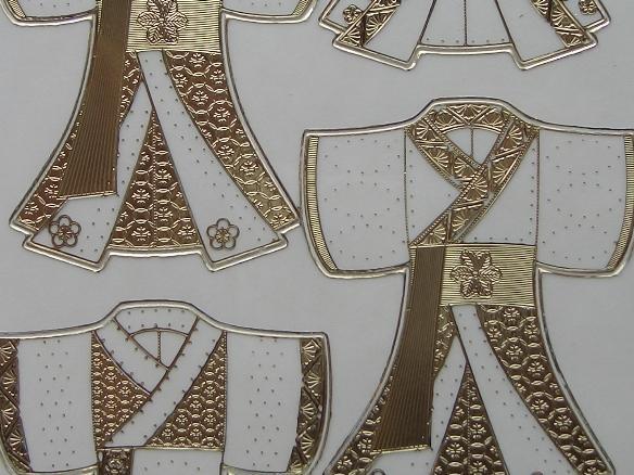 st559- japanse afbeeldingen transparant goud