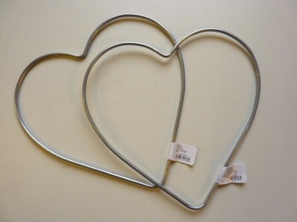 metalen hart van 20cm  -  6785 034