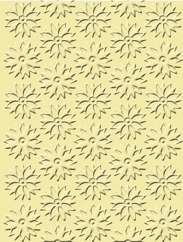 """1856 9027- Craft Concepts embossing stencil """"spring flowers"""" 11x14.5cm"""