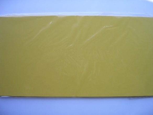 08140- 10 x luxe vierkanten kaarten linnenstructuur 13.5x13.5cm geel SPECIALE AANBIEDING