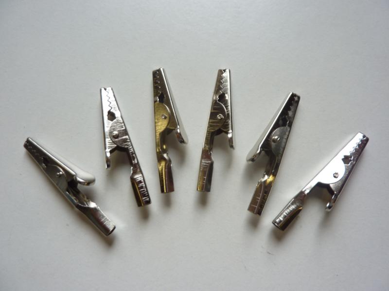 CH.207- 6 stuks grote krokodilknijpers van 50mm
