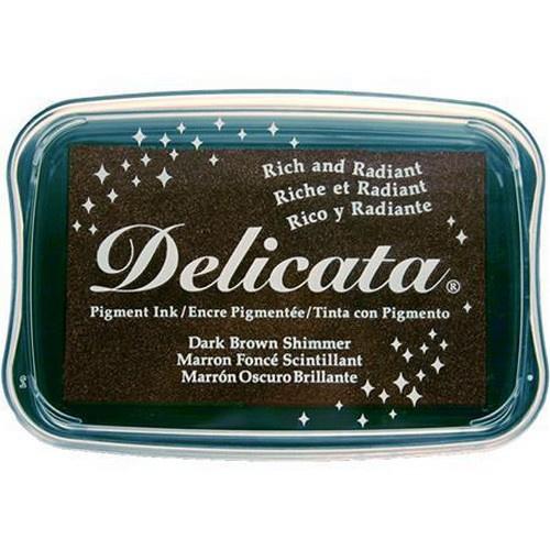CE132024/0354- Delicata inktkussen dark brown shimmer
