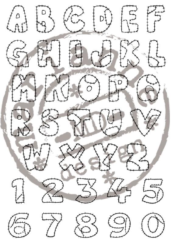 CE180016/0921- Marianne Design clearstamp patchwork alphabet - CS0921