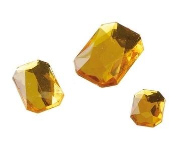 2282 414- 80 x kunststof strass stenen assortiment rechthoeken van 8/10/13mm goud geel