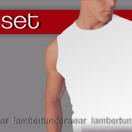 Shirt merk `SET` microvezel 302 wit tank-top zijde-achtig