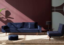 Splitback with armrest  Velvet blue