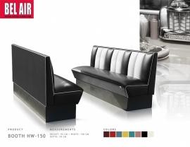 Amerikaanse Diner Booth HW-150 black