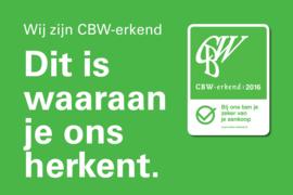 CBW erkende webwinkel