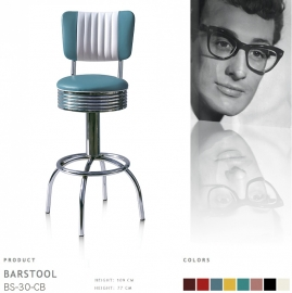 BS-30-77CB Bel Air barstool - blue