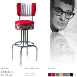 Bel Air barstool BS-28-77CB - red