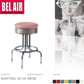Bel Air BS-28 Barkruk Roze