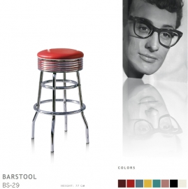 BS-29-77 Bel Air barstool - red