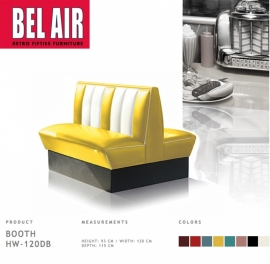 Bel Air Double Diner booth 50ies HW - 120DB / YELLOW