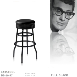 BS-29-77 Full Black Bel Air barstool