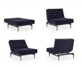 Splitback chair - Velvet blue