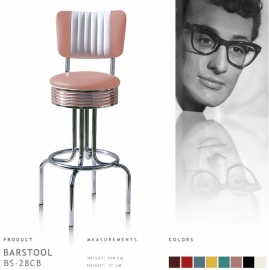 Bel Air barstool BS-28-77CB - rose