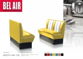 BELAIR HW-120 50's diner booth / YELLOW