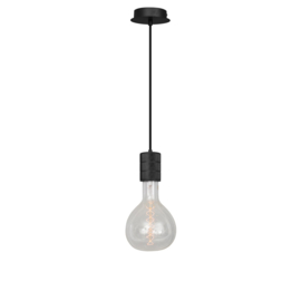 Pendel 1 lichts 200cm zwart/zwart E40