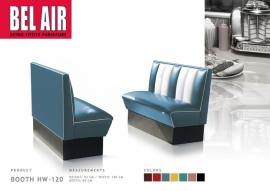 HW-120 BELAIR Diner booth / Vintage / BLUE