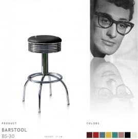 BS-30-77 Bel Air barstool - black