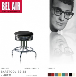 Bel Air kruk BS-28-48 black