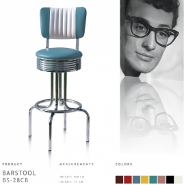 Bel Air barstool BS-28-77CB - vintage blue