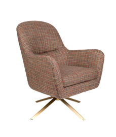 Robusto Lounge Chair Dutchbone Tartan Texas Multi Color