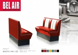 BEL AIR HW-120 50's, Americano Diner booth, red