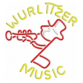 Neon Sign - Wurlitzer retro music