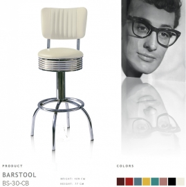BS-30 CB Bel Air barstool - off white