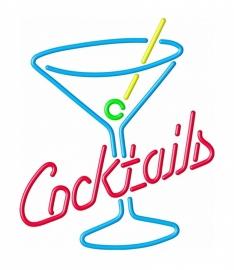 Neon verlichting - Cocktails