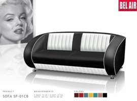 BEL AIR retro 50ies sofa - SF 02 CB - Black