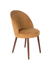 Barbara Chair Fluweel Camel