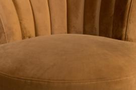 Flair classic lounge chair goud bruin fluweel