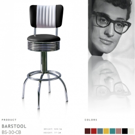 BS-30-77CB Bel Air barstool - black