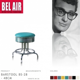 Bel Air kruk BS-28-48 turqoise