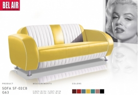 50's 3 seater - yellow