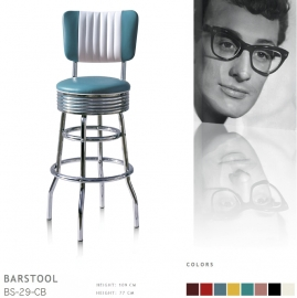 BS-29-77CB Bel Air barstool - blue