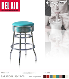 Bel Air BS-29 Fifties kruk Turquoise