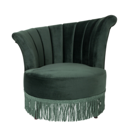 Flair classic lounge chair groen fluweel