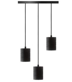 Pendel 3 lichts E40 zwart Het Lichtlab