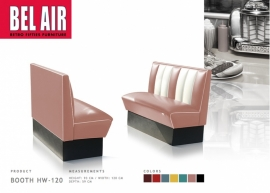 BELAIR HW-120 50's, Americano Diner booth, Dusty rose