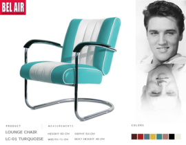 LC-01 Lounge Chair Turquoise