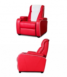 Home cinema chair red