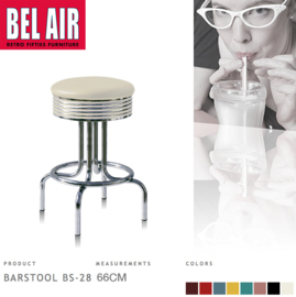 Bel Air BS-28 Barkruk Wit