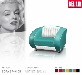 Retro Fauteuil Bel Air SF-01CB / TURQUOISE