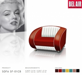 Bel Air retro furniture sofa chair / Ruby Red SF-01CB