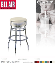 Bel Air BS-29 Fifties kruk Wit