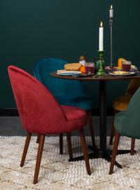 Barbara Chair Fluweel Rood