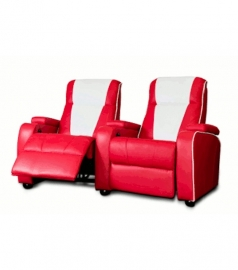 Home Cinema double chair Red